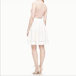 Ann Taylor 4 Eyelet Linen Midi Skirt Modest